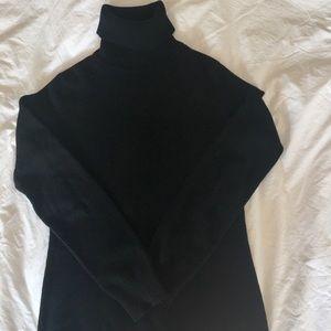 Uniqlo Black Cashmere Turtleneck Sweater